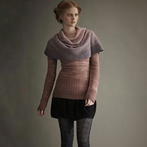 [Moth Anth]Late Afternoon Shawl Neck Ombré Sweater
